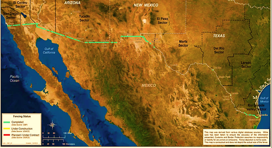 figure 1 u s mexico border fences and other structures january 2017